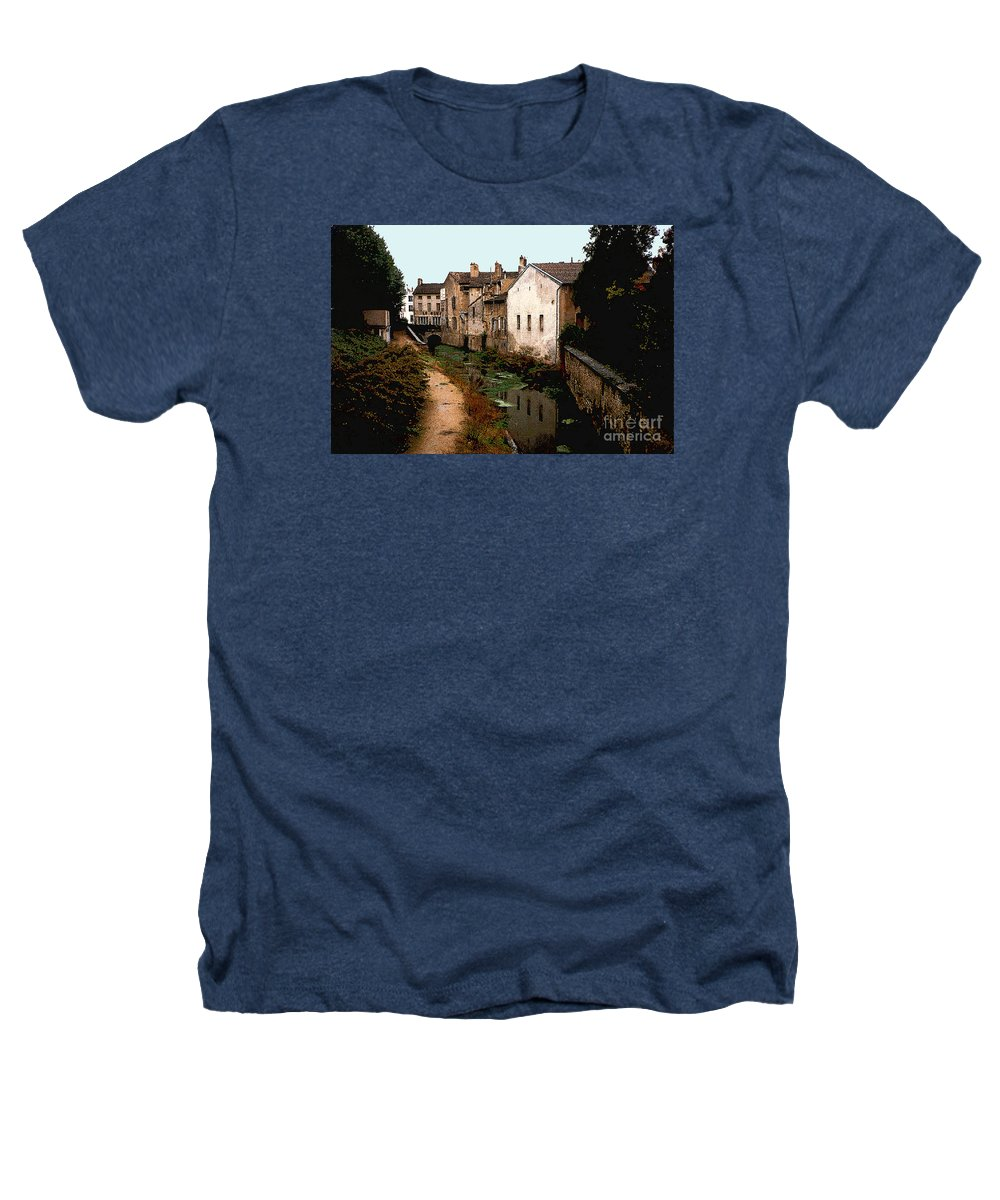 France Heathers T-Shirt featuring the photograph Loire Valley Village Scene by Nancy Mueller