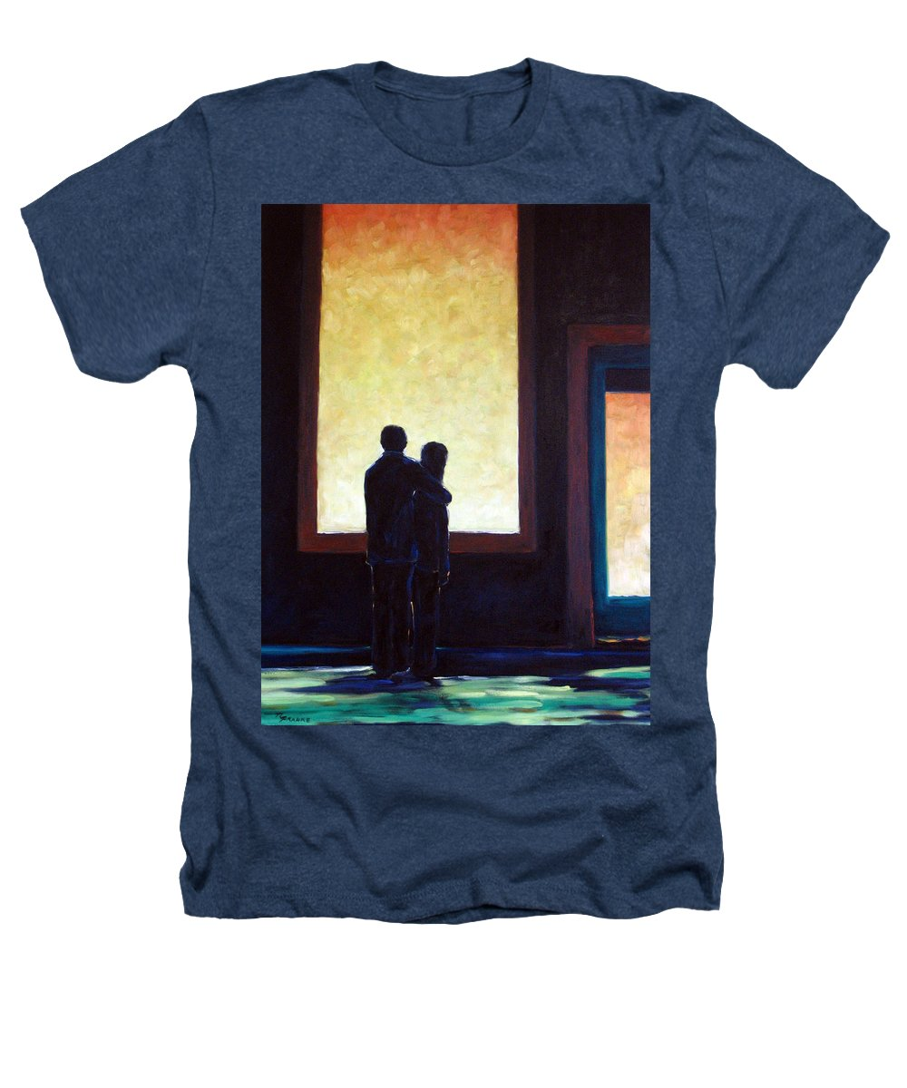 Pranke Heathers T-Shirt featuring the painting Looking In Looking Out by Richard T Pranke