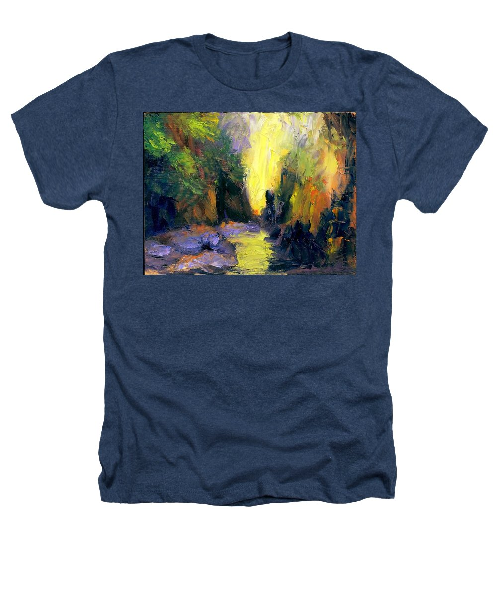 Landscape Heathers T-Shirt featuring the painting Lost Creek by Gail Kirtz
