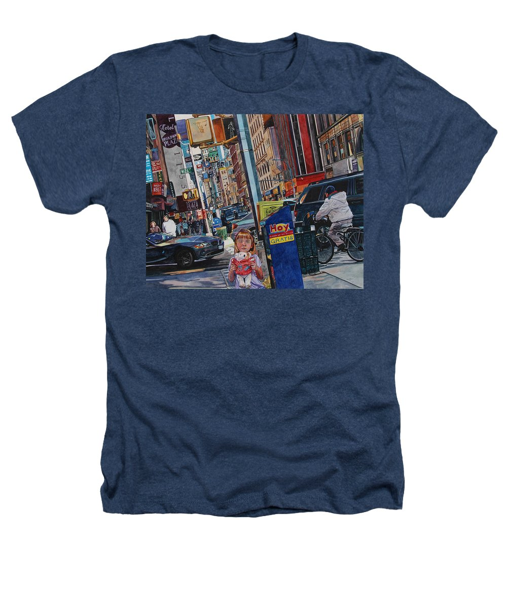 City Heathers T-Shirt featuring the painting Lost by Valerie Patterson
