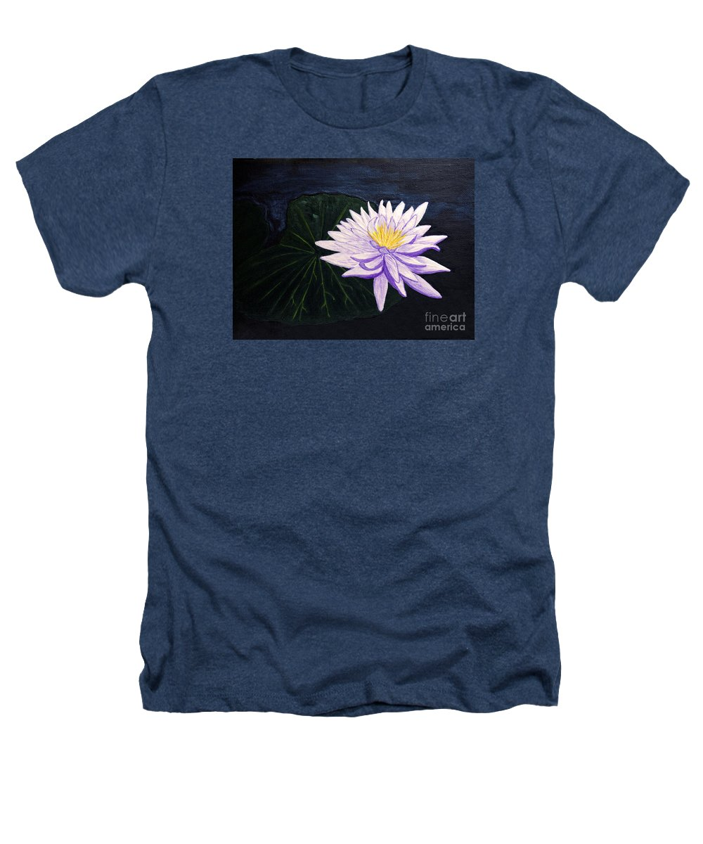 Original Painting Heathers T-Shirt featuring the painting Lotus Blossom At Night by Patricia Griffin Brett