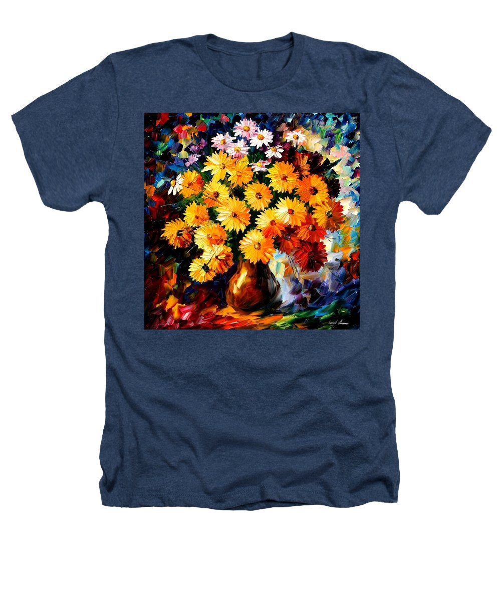 Flowers Heathers T-Shirt featuring the painting Love Irradiation by Leonid Afremov
