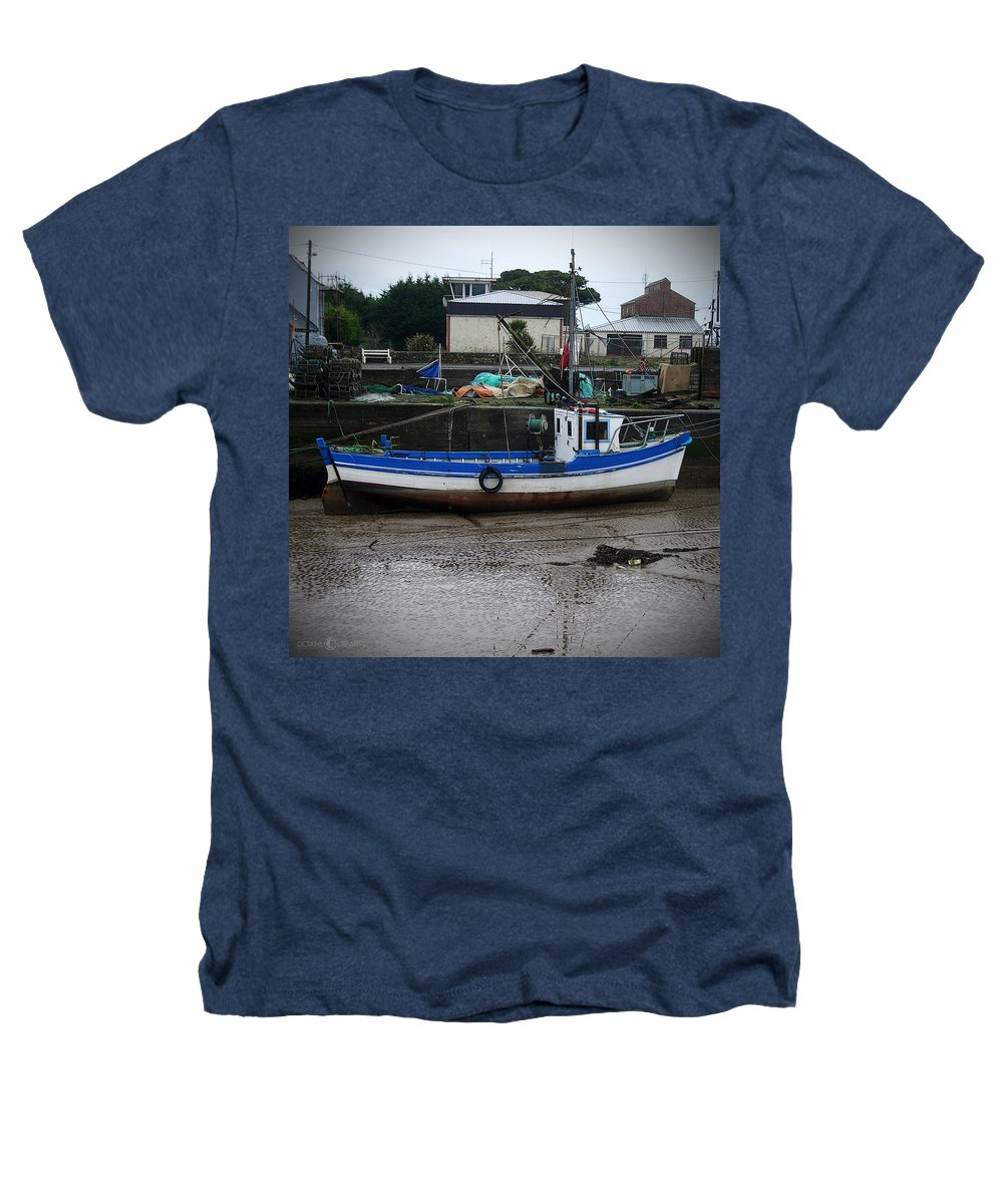 Boat Heathers T-Shirt featuring the photograph Low Tide by Tim Nyberg