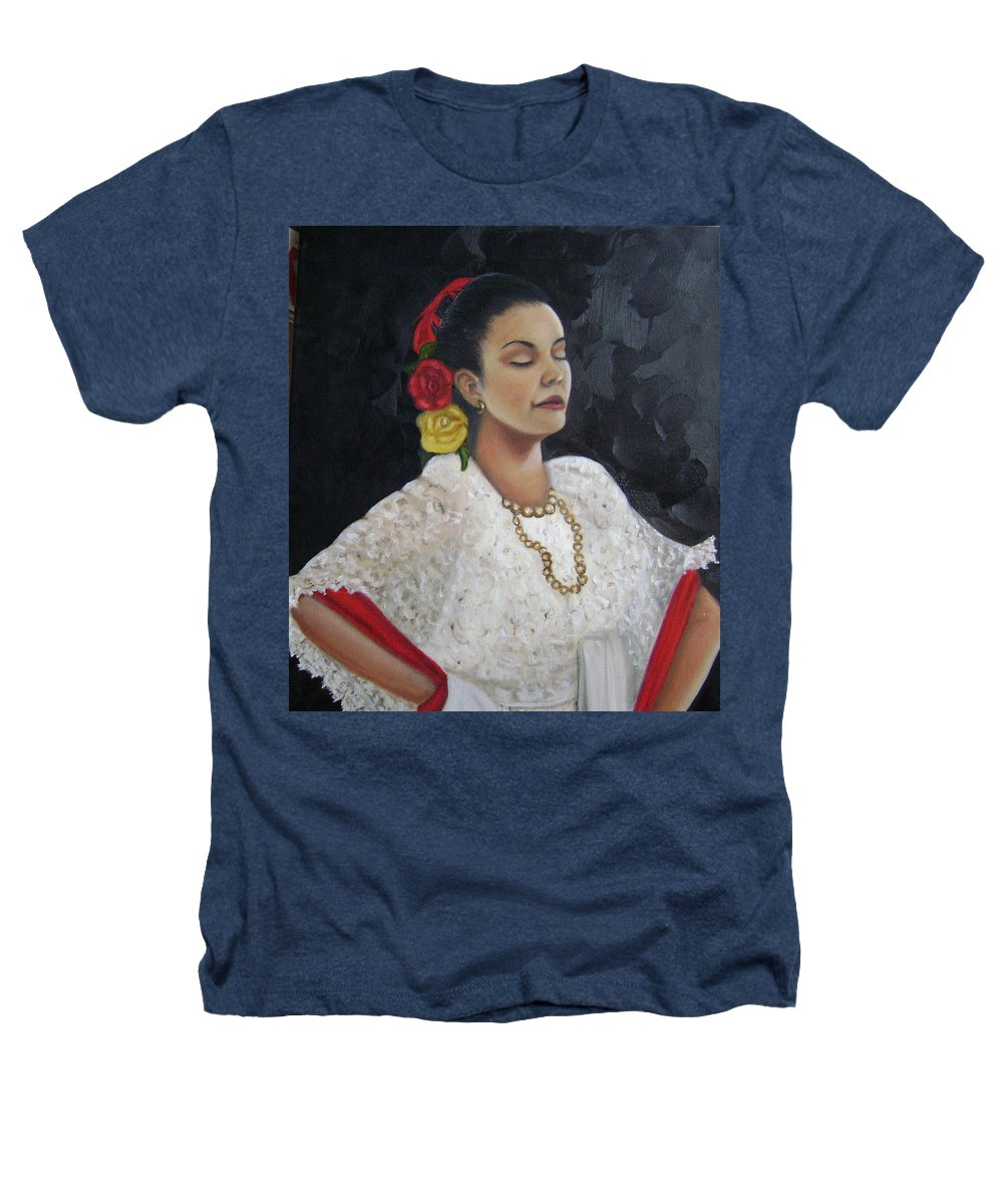Heathers T-Shirt featuring the painting Lucinda by Toni Berry