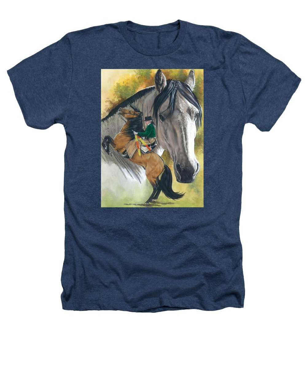 Horses Heathers T-Shirt featuring the mixed media Lusitano by Barbara Keith