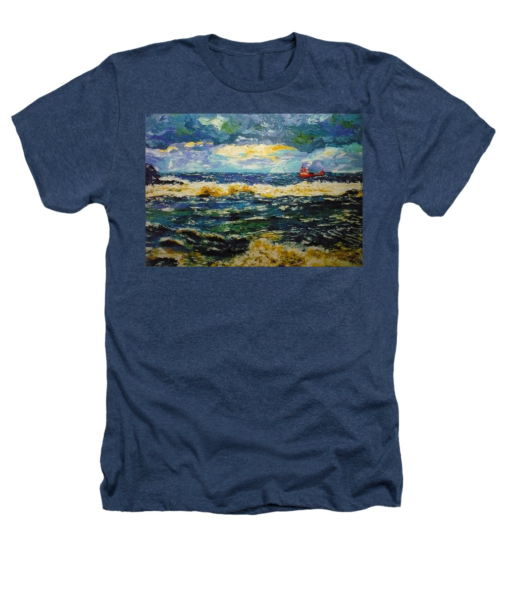 Sea Heathers T-Shirt featuring the painting Mad Sea by Ericka Herazo