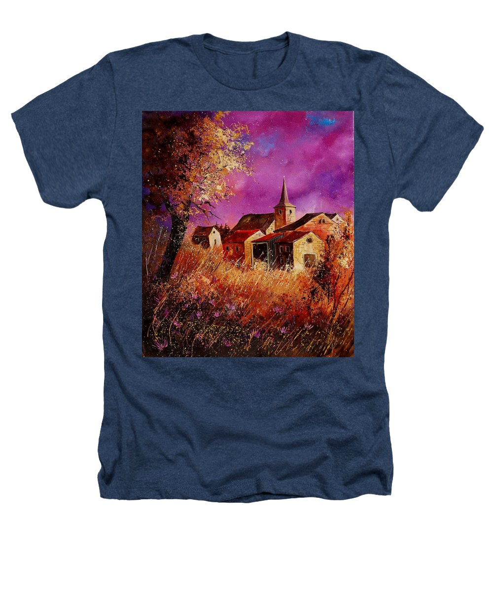 Landscape Heathers T-Shirt featuring the painting Magic Autumn by Pol Ledent