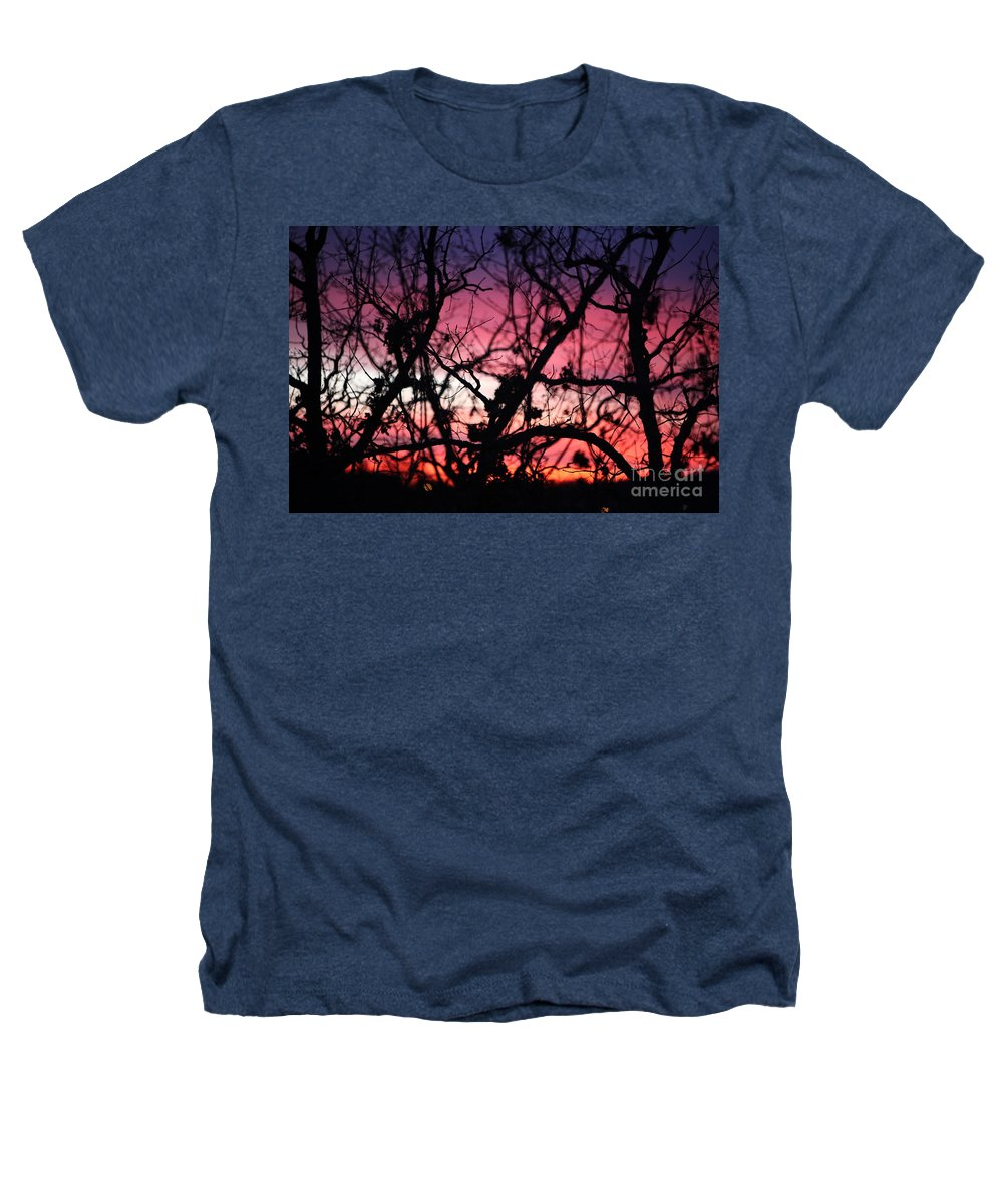 Sunset Heathers T-Shirt featuring the photograph Magnificent Sunset And Trees by Nadine Rippelmeyer