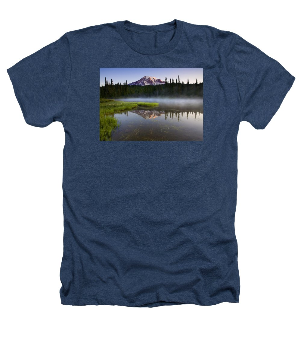 Lake Heathers T-Shirt featuring the photograph Majestic Dawn by Mike Dawson