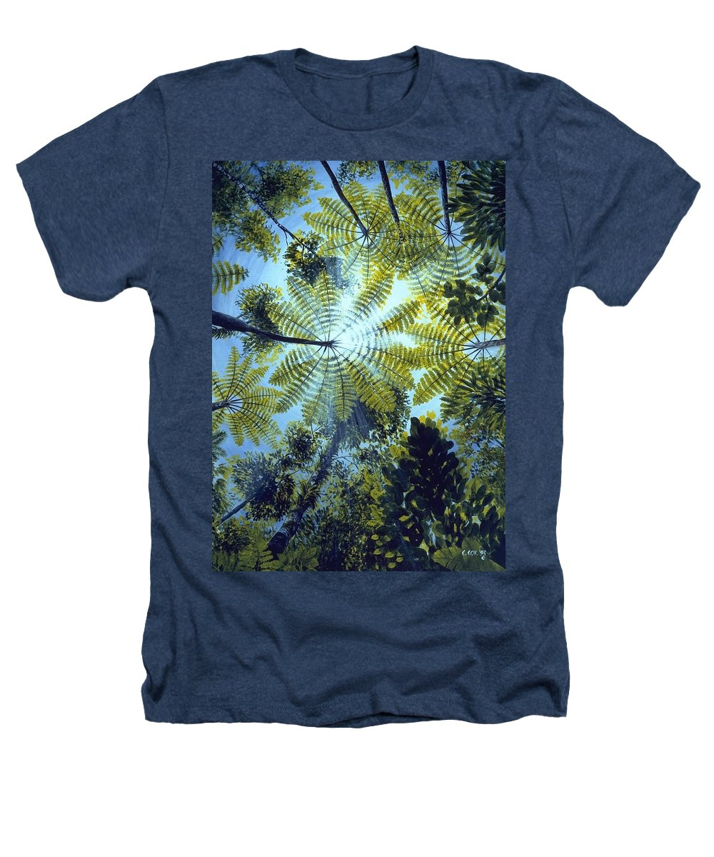 Chris Cox Heathers T-Shirt featuring the painting Majestic Treeferns by Christopher Cox