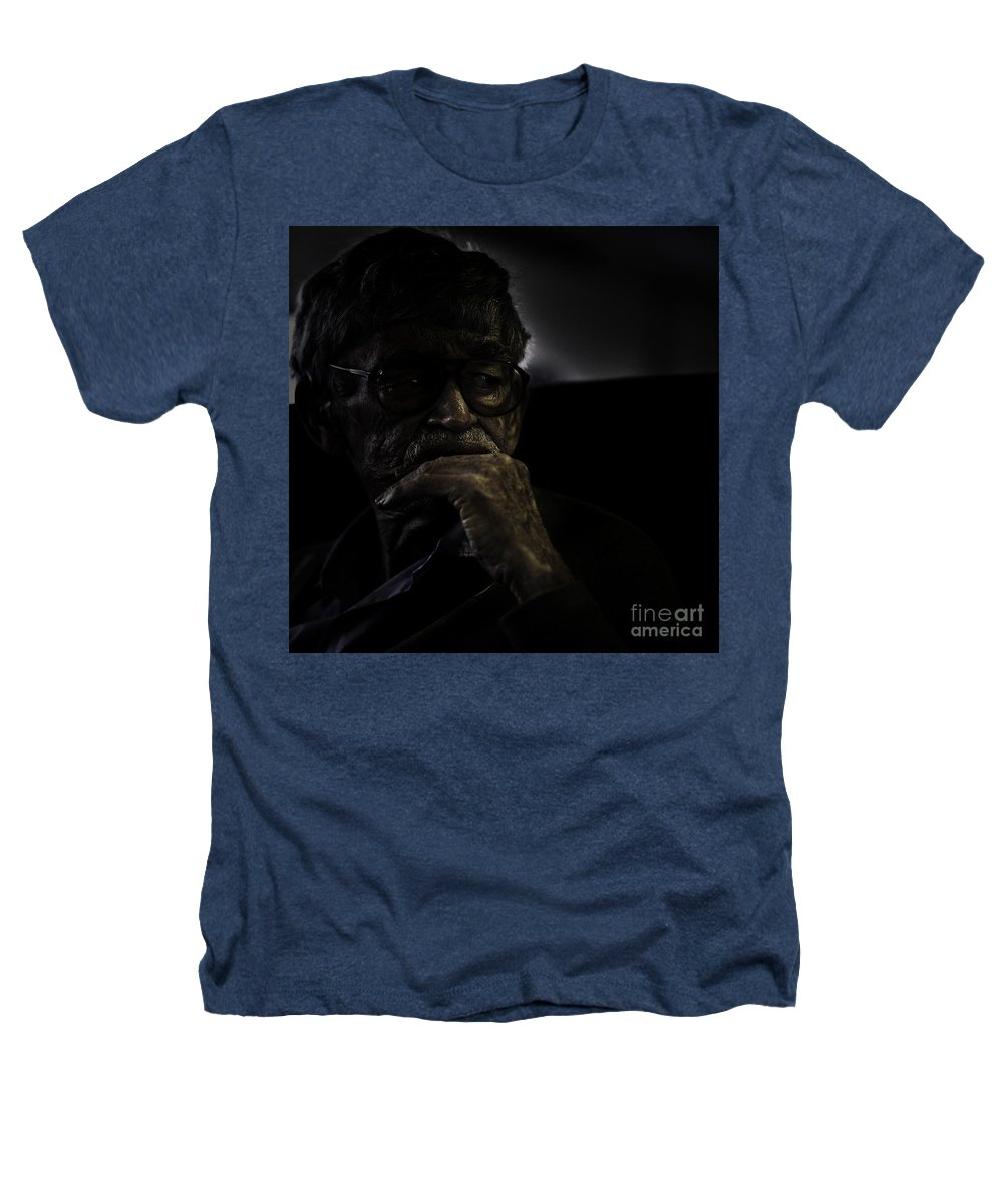 Portrait Heathers T-Shirt featuring the photograph Man On Ferry by Sheila Smart Fine Art Photography