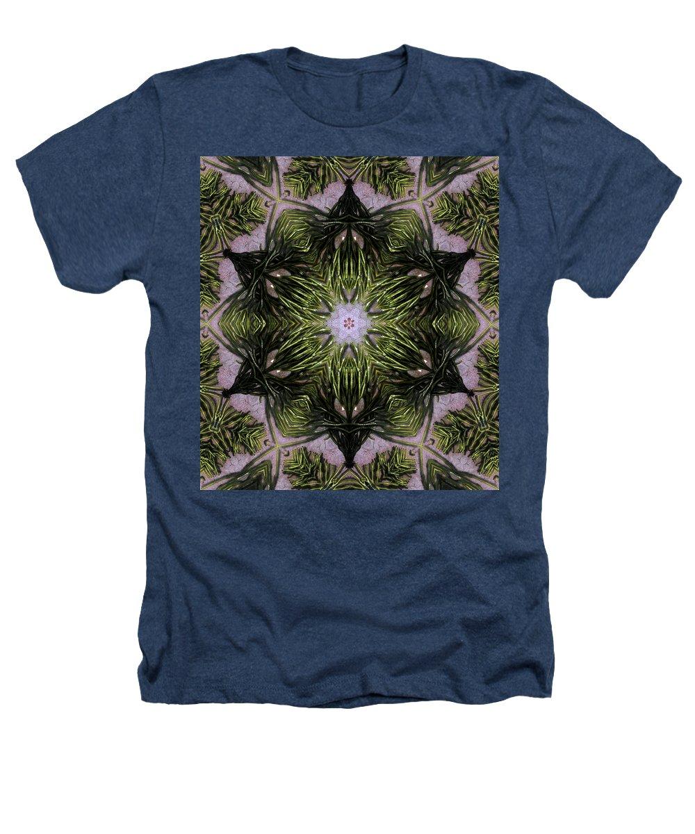 Mandala Heathers T-Shirt featuring the digital art Mandala Sea Sponge by Nancy Griswold