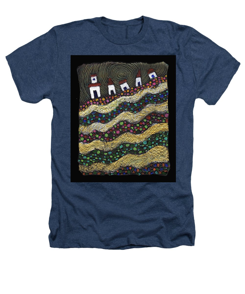 Folk Art Heathers T-Shirt featuring the painting Many Paths Lead To The Top by Wayne Potrafka