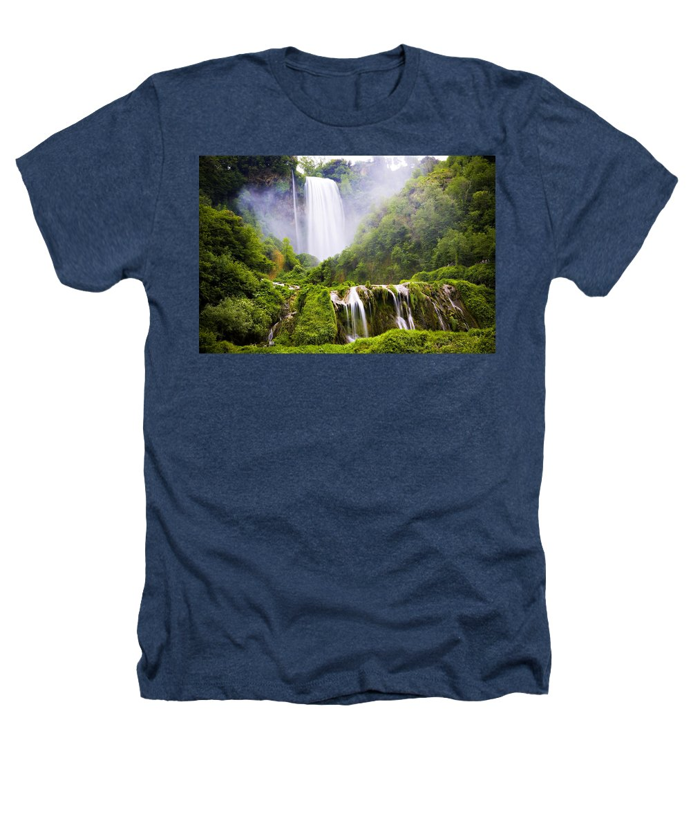 Italy Heathers T-Shirt featuring the photograph Marmore Waterfalls Italy by Marilyn Hunt
