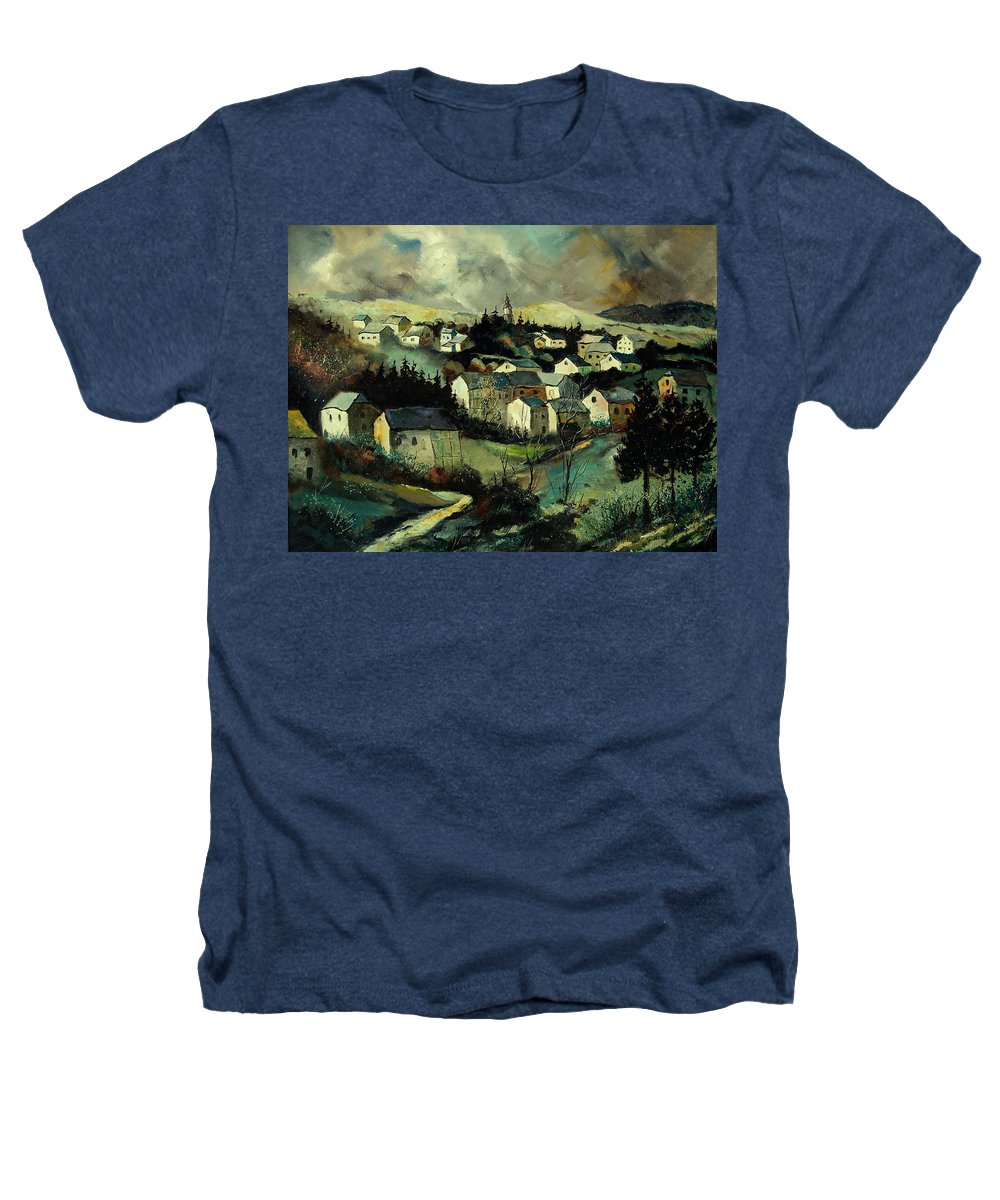 Winter Heathers T-Shirt featuring the painting Masbourg by Pol Ledent