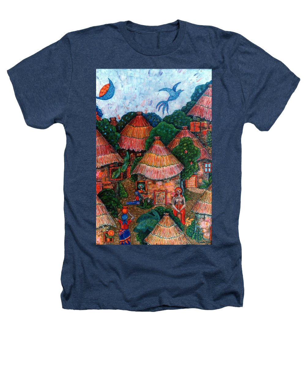 Africa Heathers T-Shirt featuring the painting Maybe That Was My Country by Madalena Lobao-Tello