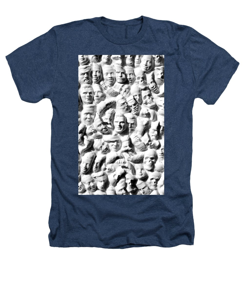 Figure Heathers T-Shirt featuring the sculpture Melancholic Journey 1 by Mark Cawood