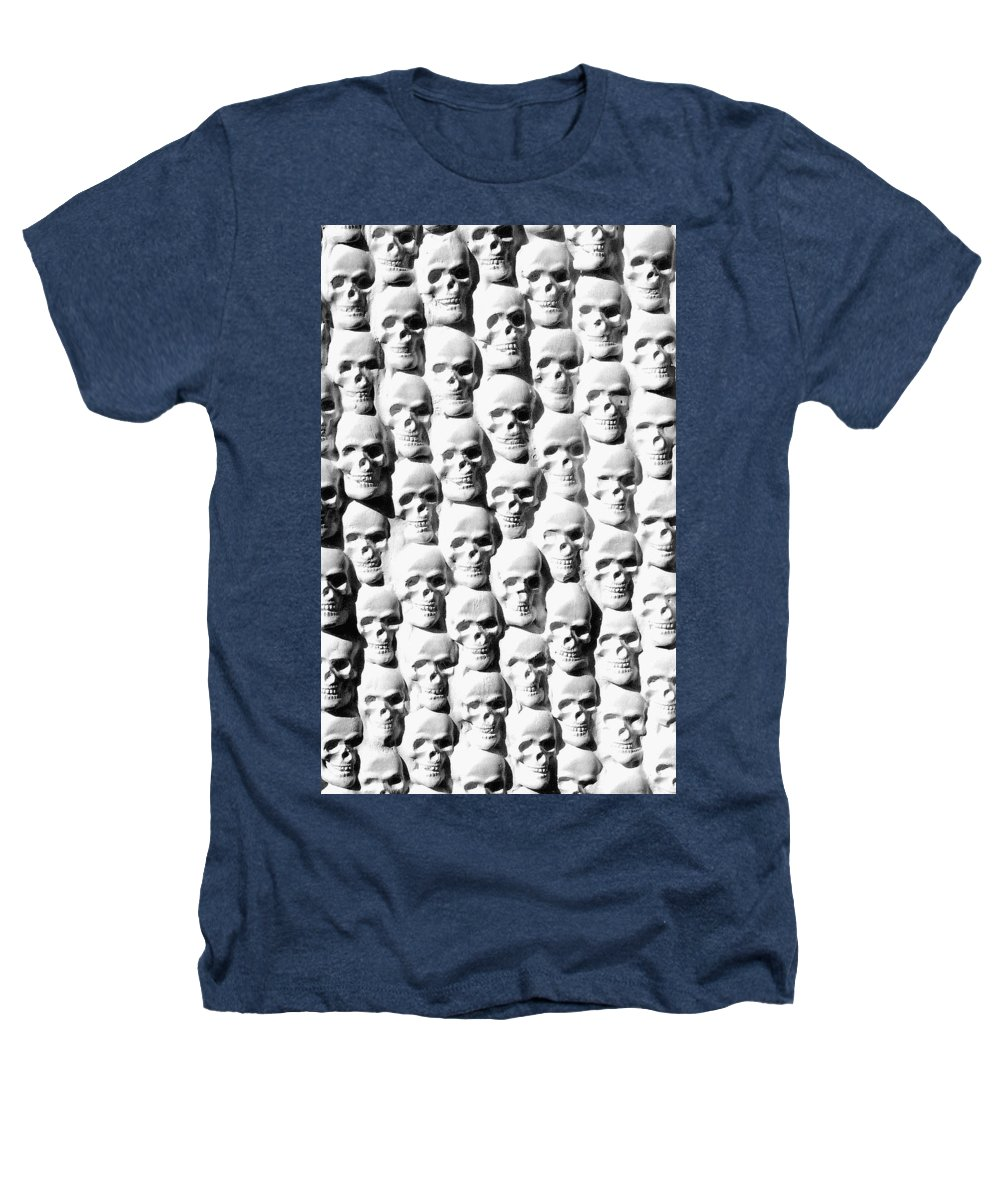 Figurative Heathers T-Shirt featuring the sculpture Melancholic Journey 2 by Mark Cawood