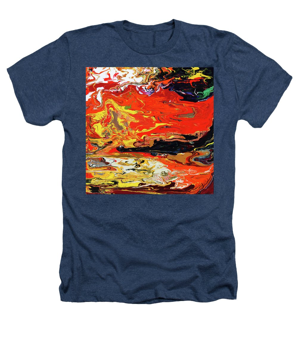 Fusionart Heathers T-Shirt featuring the painting Melt by Ralph White