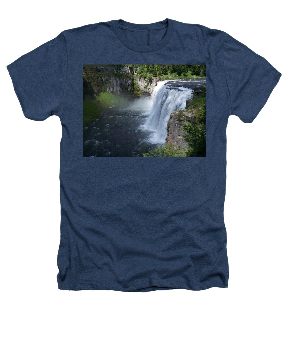 Landscape Heathers T-Shirt featuring the photograph Mesa Falls by Gale Cochran-Smith