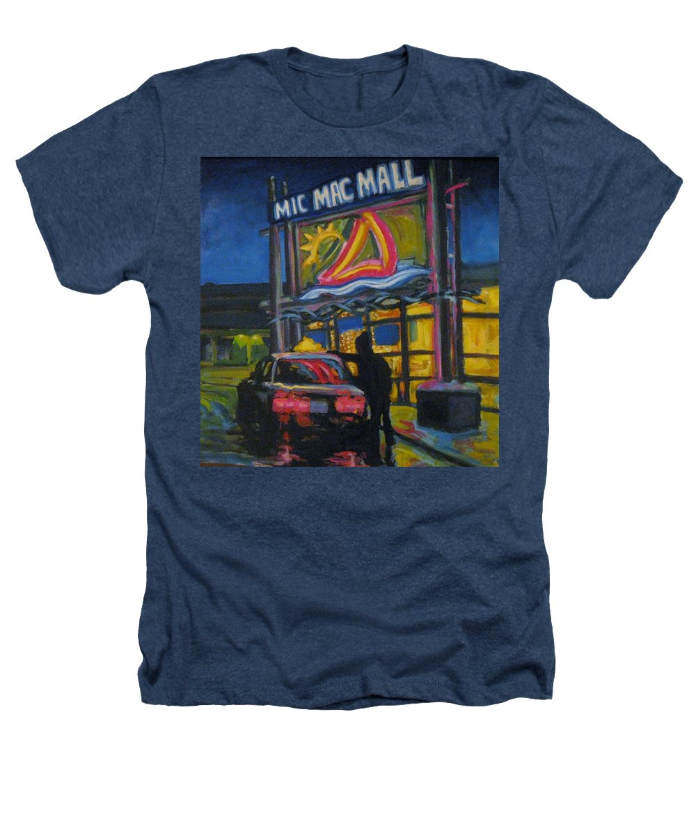 Retail Heathers T-Shirt featuring the painting Mic Mac Mall Spectre Of The Next Great Depression by John Malone