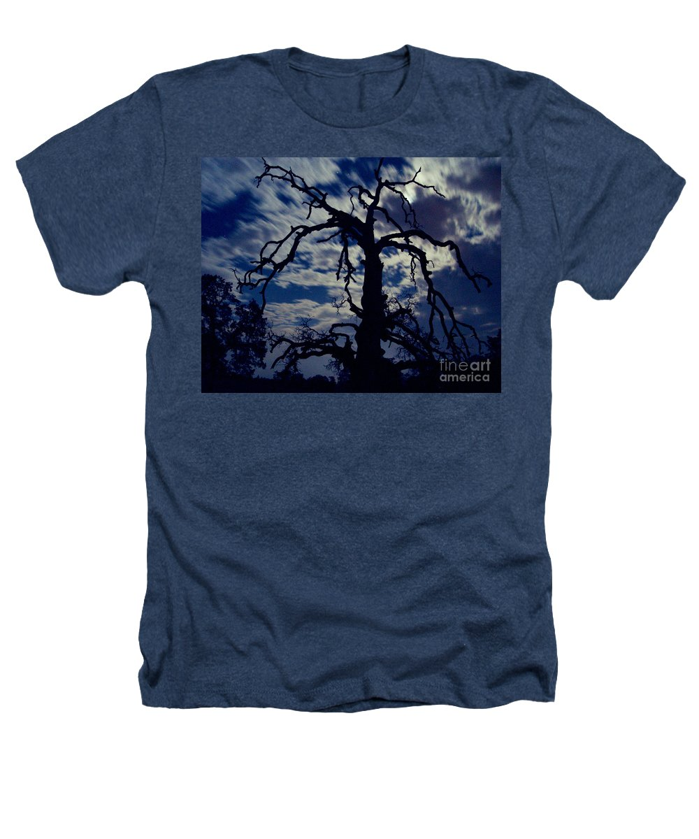Clouds Heathers T-Shirt featuring the photograph Midnight Blue by Peter Piatt