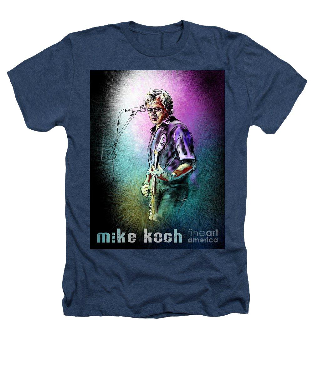 Mike Koch Portrait Heathers T-Shirt featuring the digital art Mike Koch by Miki De Goodaboom