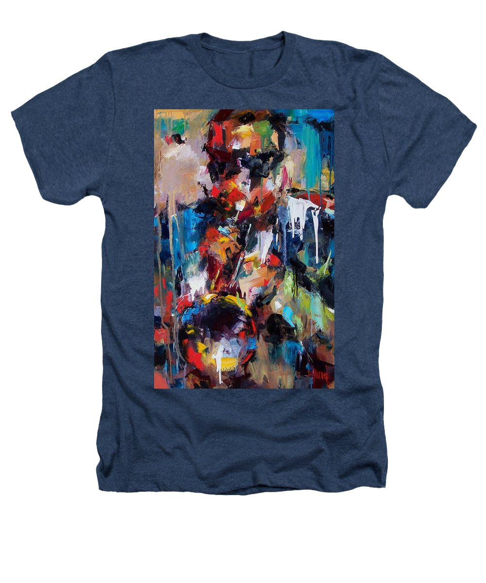 Jazz Art Heathers T-Shirt featuring the painting Miles Davis 2 by Debra Hurd