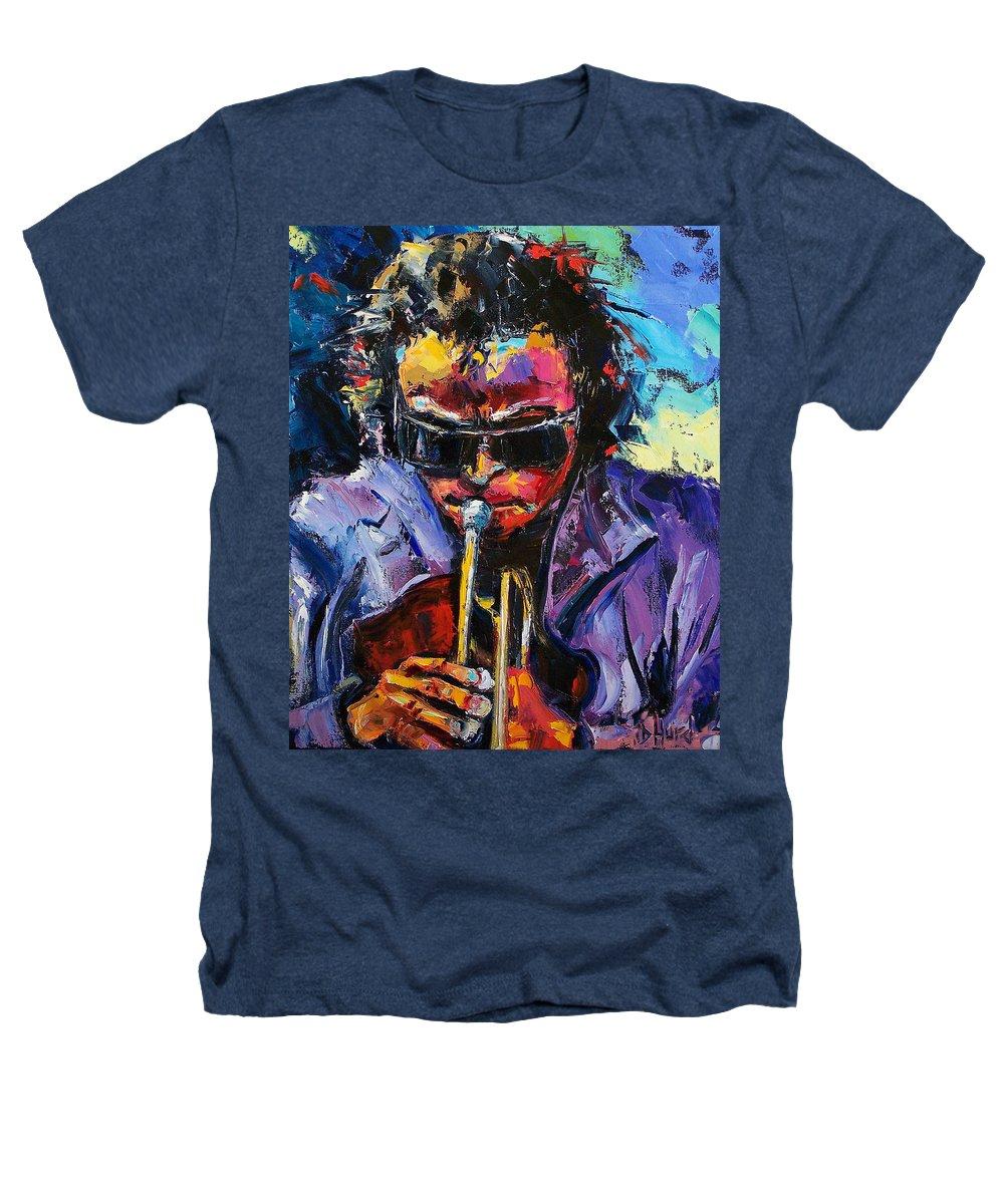 Miles Davis Heathers T-Shirt featuring the painting Miles Davis by Debra Hurd