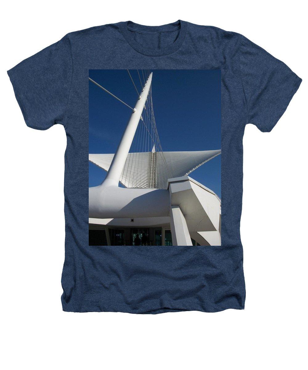 Mam Heathers T-Shirt featuring the photograph Milwaukee Art Museum Cropped by Anita Burgermeister