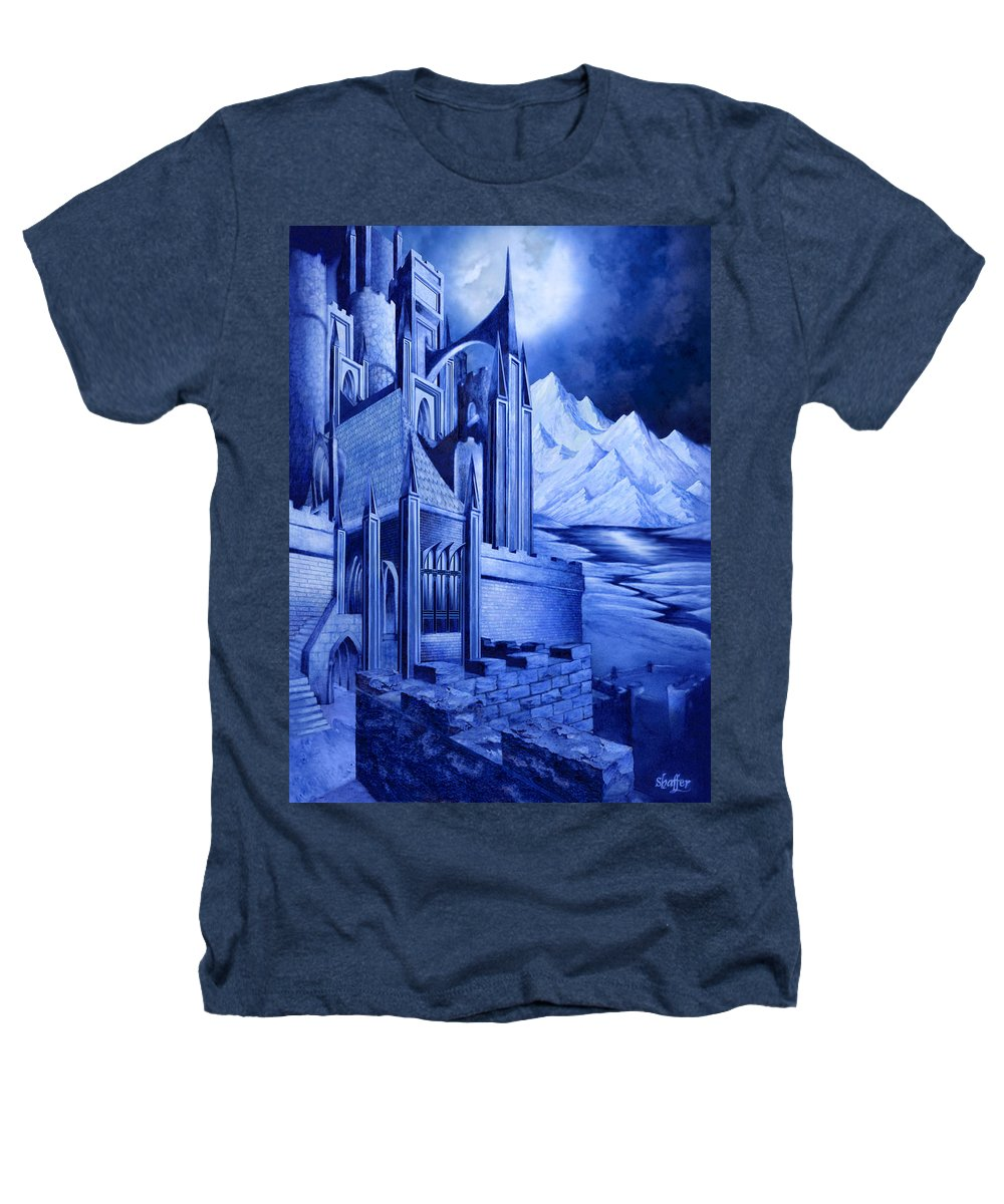 Lord Of The Rings Heathers T-Shirt featuring the mixed media Minas Tirith by Curtiss Shaffer