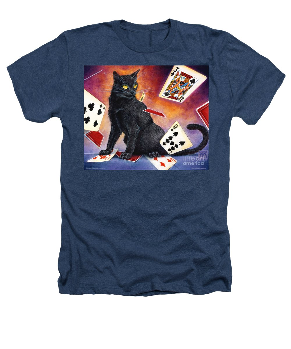 Cat Heathers T-Shirt featuring the painting Mischief Kitten by Melissa A Benson
