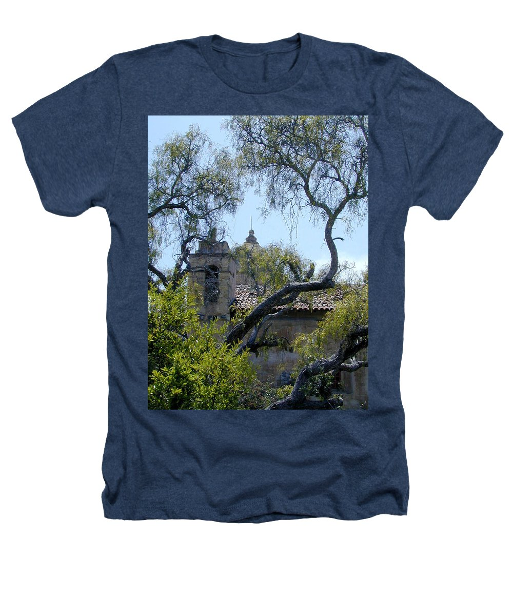 Mission Heathers T-Shirt featuring the photograph Mission At Carmell by Douglas Barnett