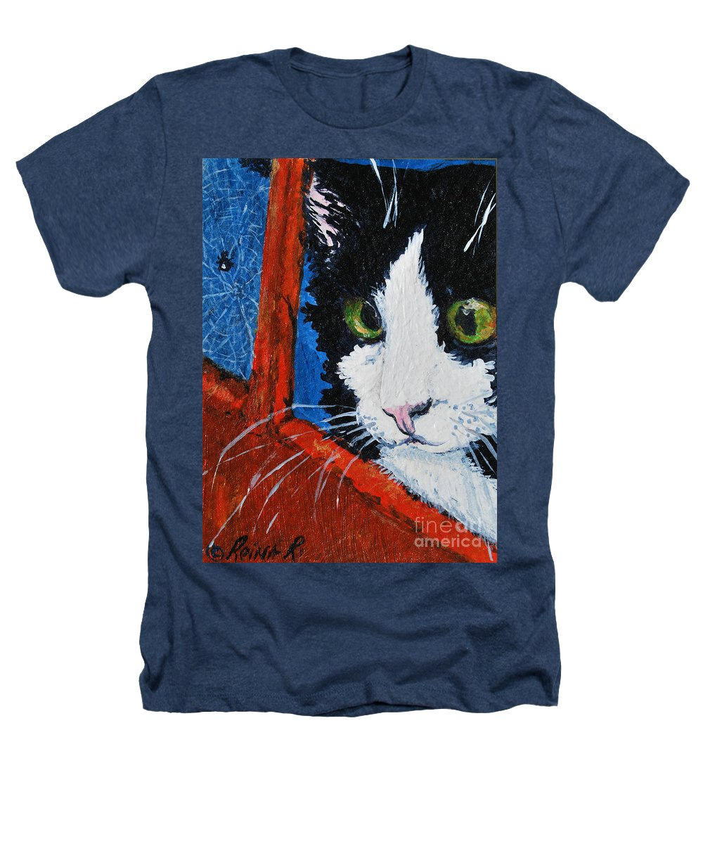 Cat Heathers T-Shirt featuring the painting Molly by Reina Resto