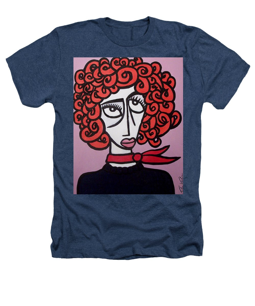 Portaits Heathers T-Shirt featuring the painting Molly by Thomas Valentine