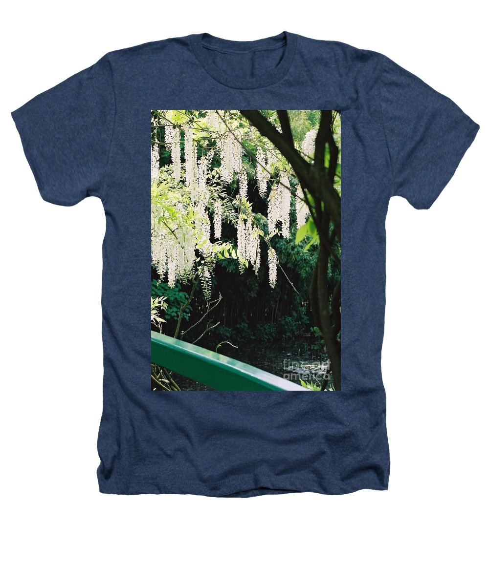 Monet Heathers T-Shirt featuring the photograph Monet's Garden Delights by Nadine Rippelmeyer
