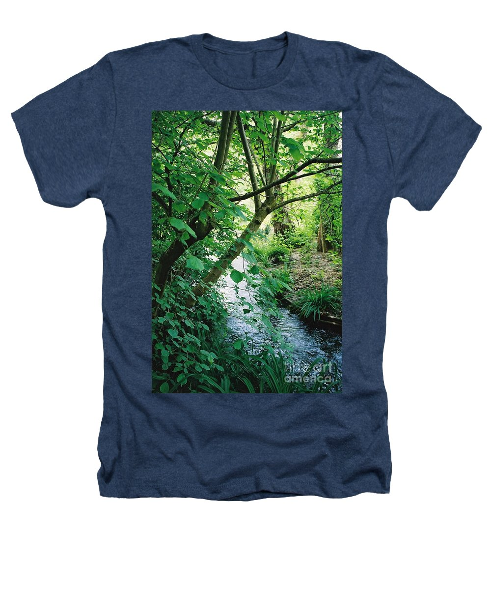 Photography Heathers T-Shirt featuring the photograph Monet's Garden Stream by Nadine Rippelmeyer