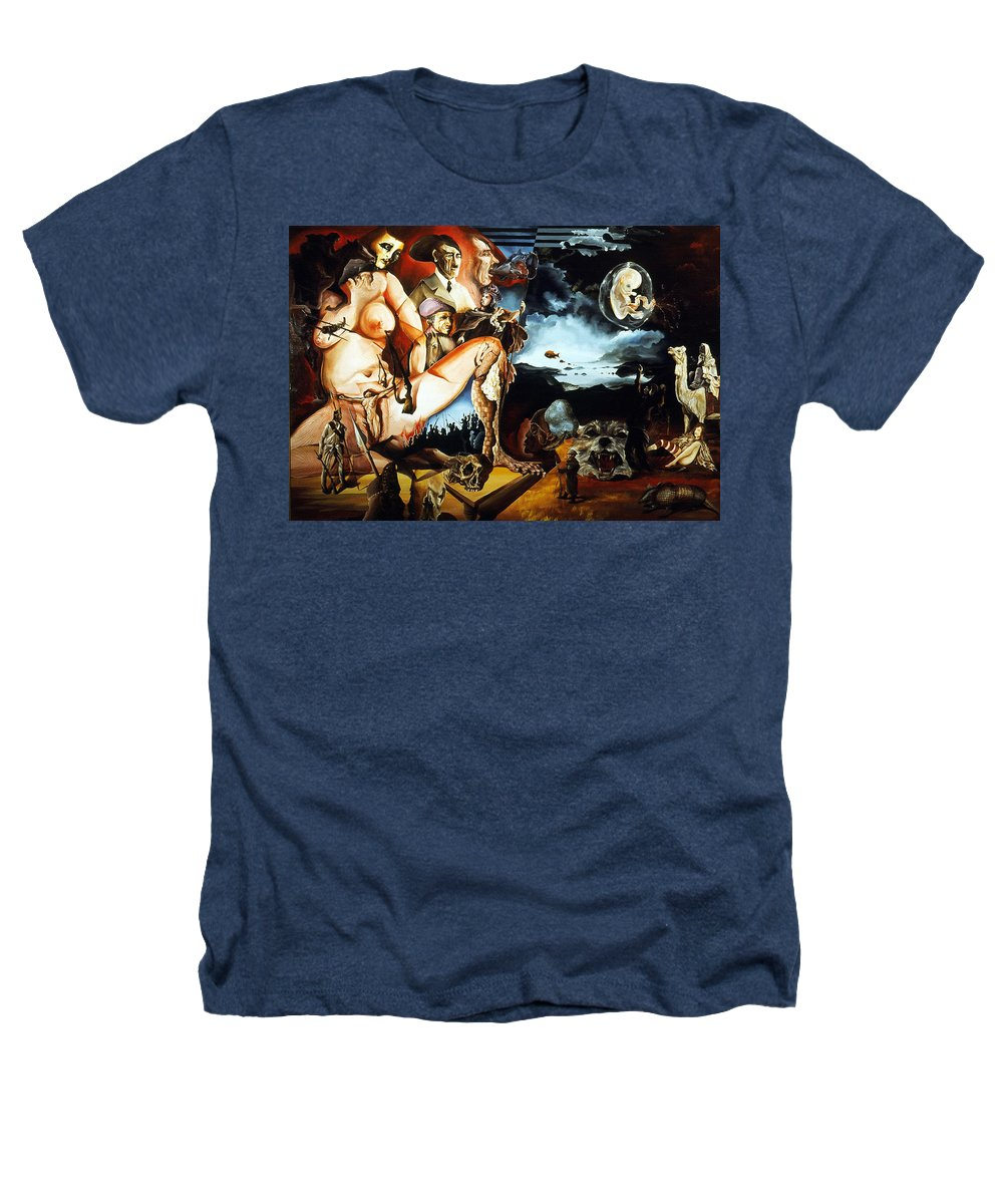 War Heathers T-Shirt featuring the painting Monument To The Unborn War Hero by Otto Rapp