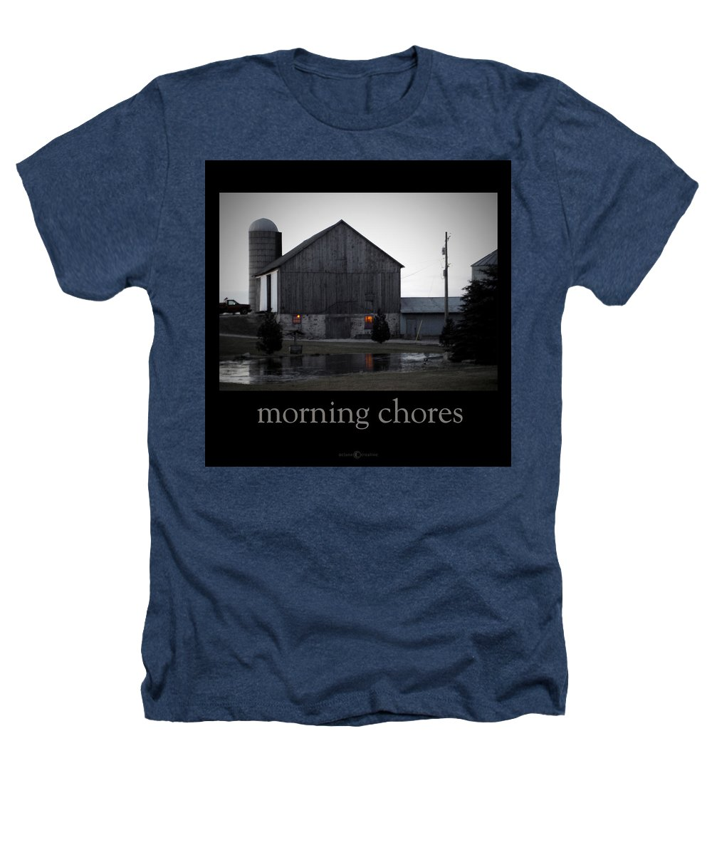 Poster Heathers T-Shirt featuring the photograph Morning Chores by Tim Nyberg