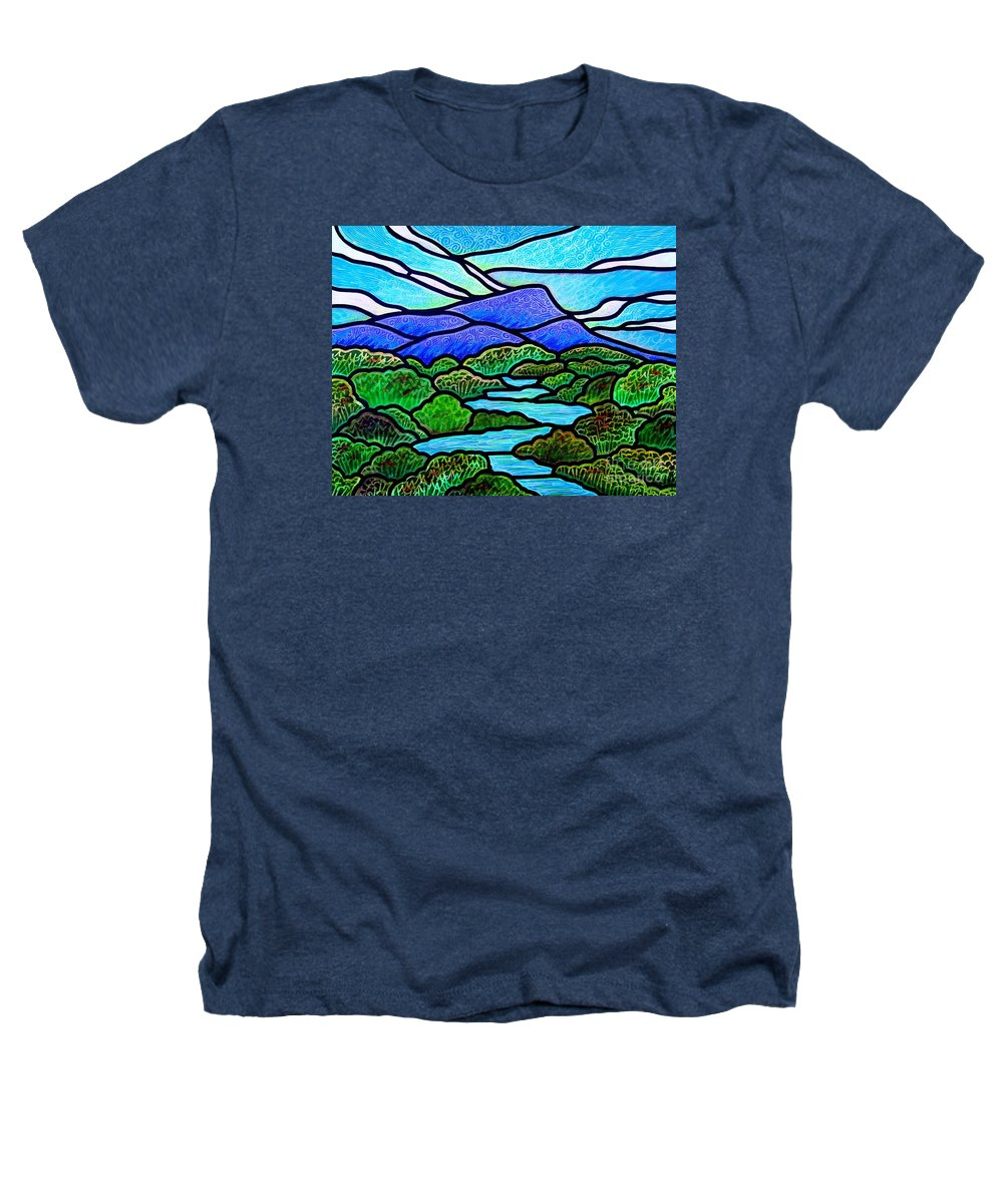 Paintings Heathers T-Shirt featuring the painting Mountain Glory by Jim Harris