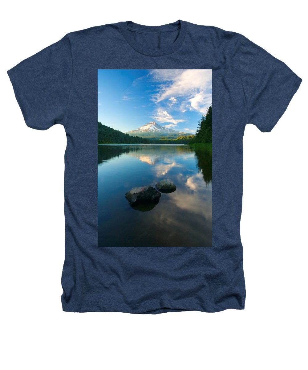 Mt. Hood Heathers T-Shirt featuring the photograph Mt. Hood Cirrus Explosion by Mike Dawson