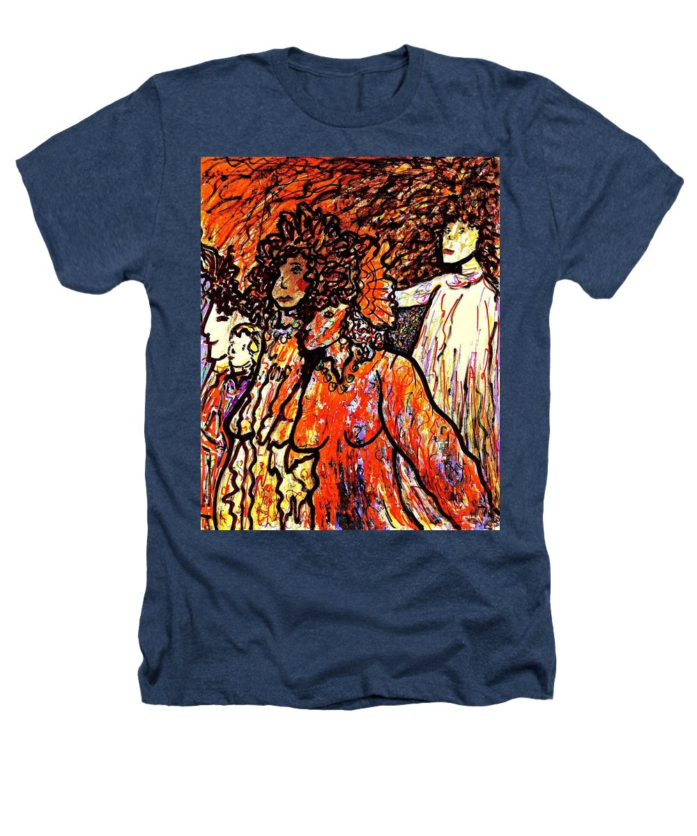 Figurative Art Heathers T-Shirt featuring the painting Musical Recital by Natalie Holland