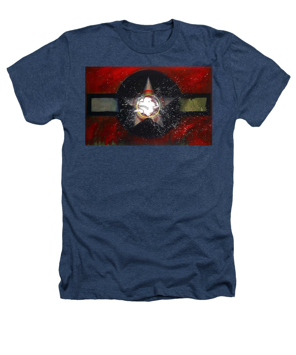 Usaaf Insignia Heathers T-Shirt featuring the painting My Indian Red by Charles Stuart