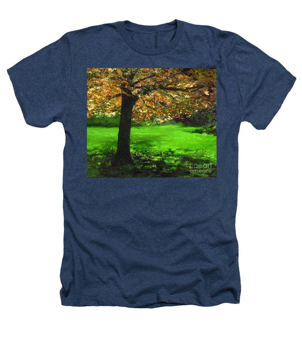 Spiritualism Heathers T-Shirt featuring the painting My Love Of Trees I by Lizzy Forrester