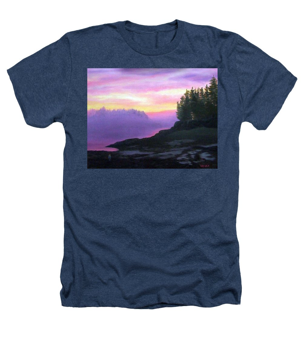 Sunset Heathers T-Shirt featuring the painting Mystical Sunset by Sharon E Allen