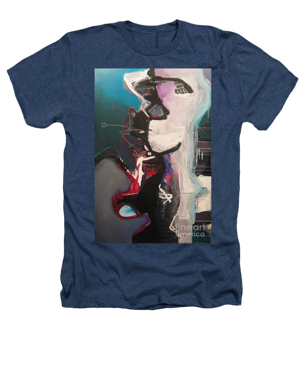 Abstract Art Paintings Heathers T-Shirt featuring the painting Nagging Voice by Seon-Jeong Kim