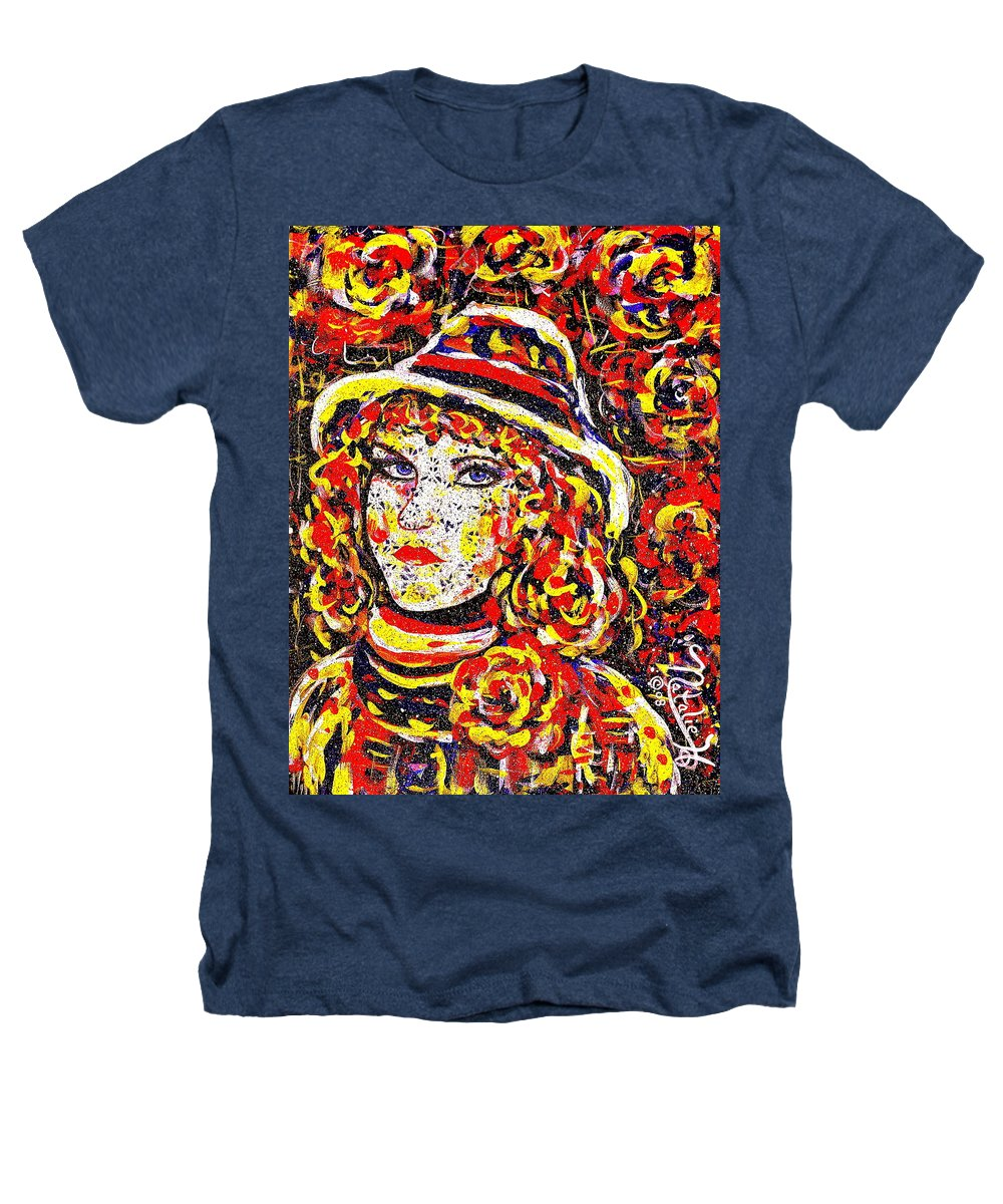Woman Heathers T-Shirt featuring the painting Nat With The Hat by Natalie Holland