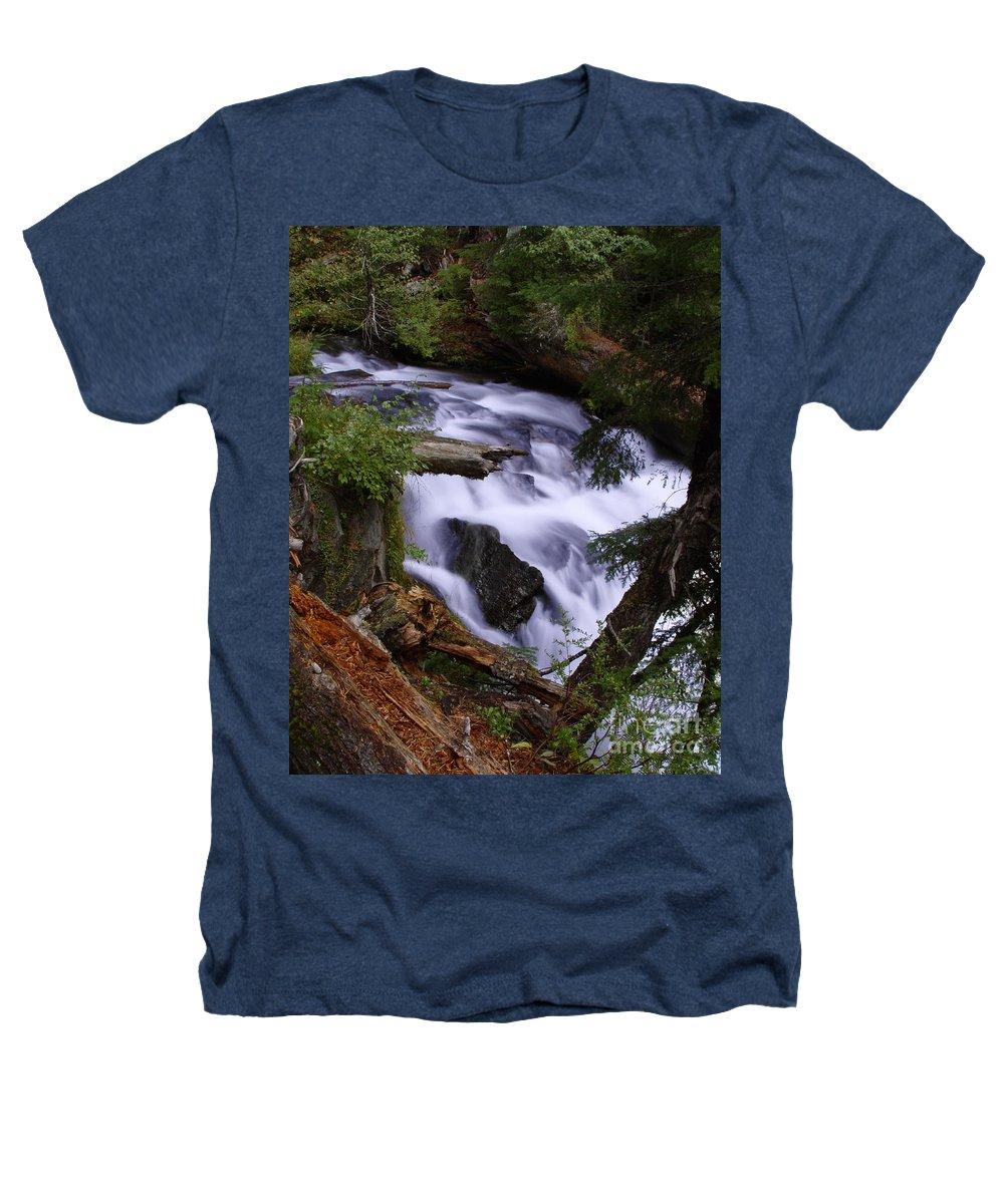 Waterfall Heathers T-Shirt featuring the photograph National Creek Falls 03 by Peter Piatt