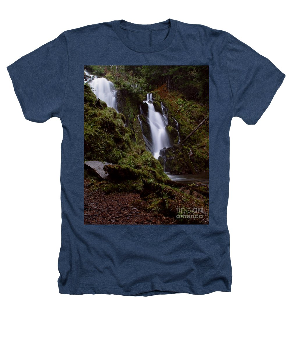 Waterfall Heathers T-Shirt featuring the photograph National Creek Falls 04 by Peter Piatt