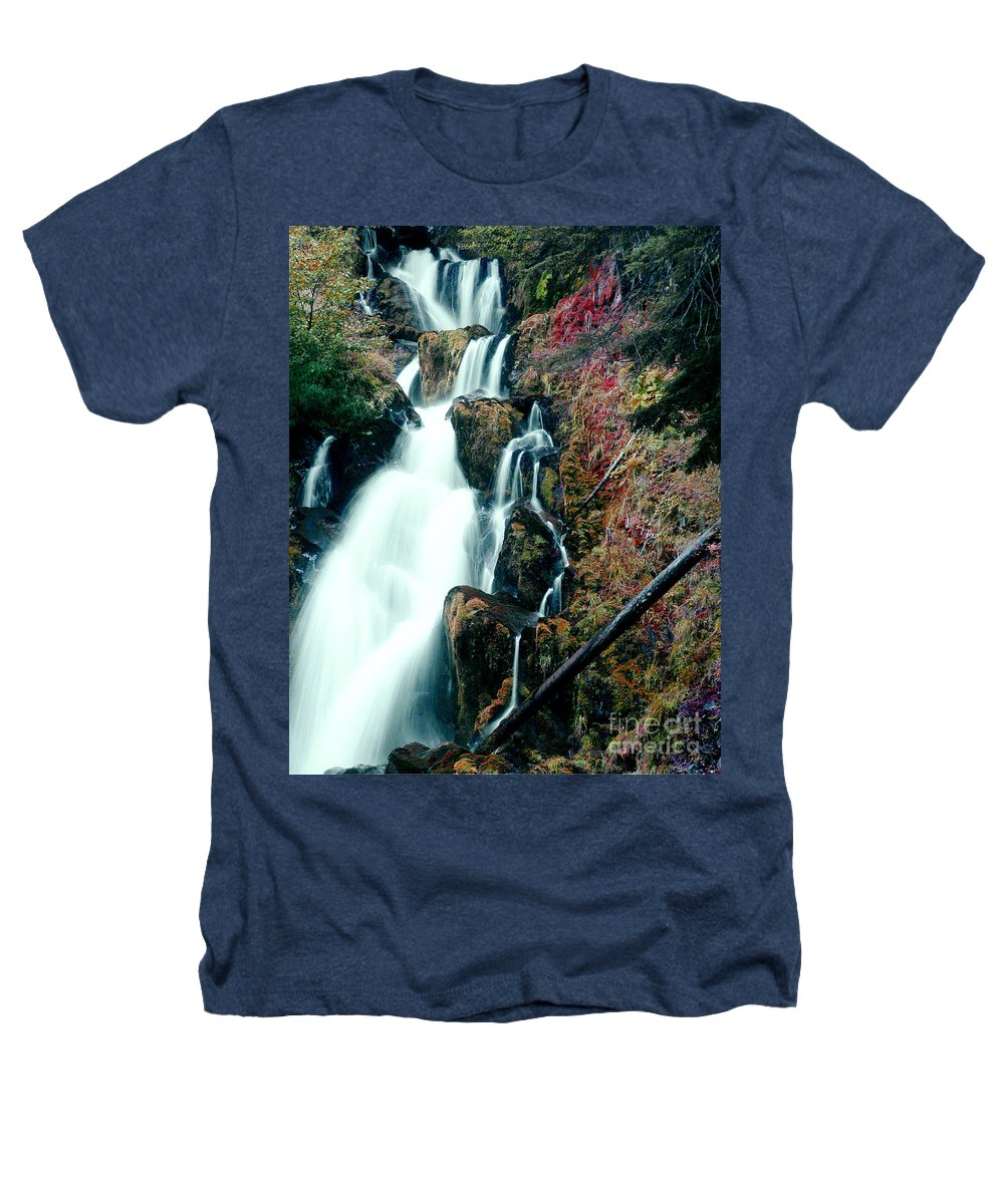 Waterfall Heathers T-Shirt featuring the photograph National Creek Falls 07 by Peter Piatt